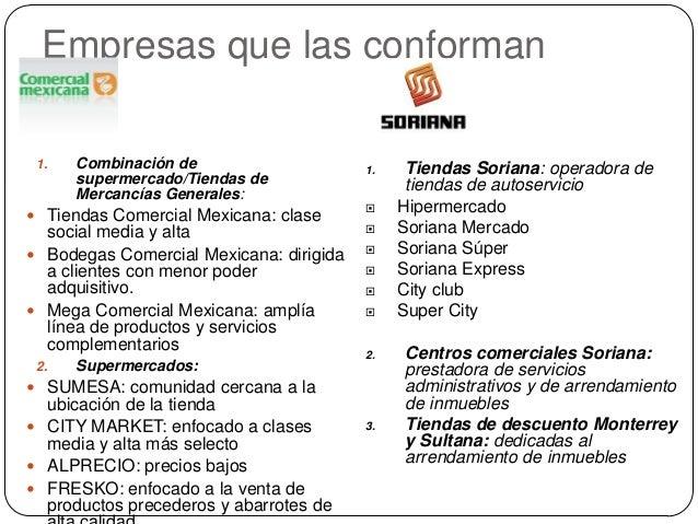 Análisis comercial mexicana vs soriana