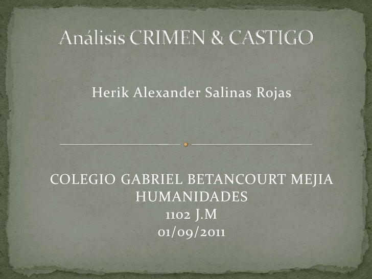 Análisis Crimen Castigo