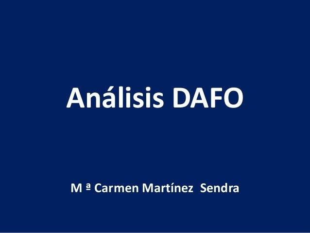 Análisis DAFO M ª Carmen Martínez Sendra