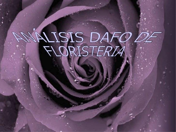 ANÁLISIS DAFO DE  FLORISTERIA