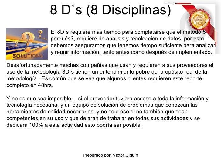 ejemplo de las 8 disciplinas en una empresa pdf