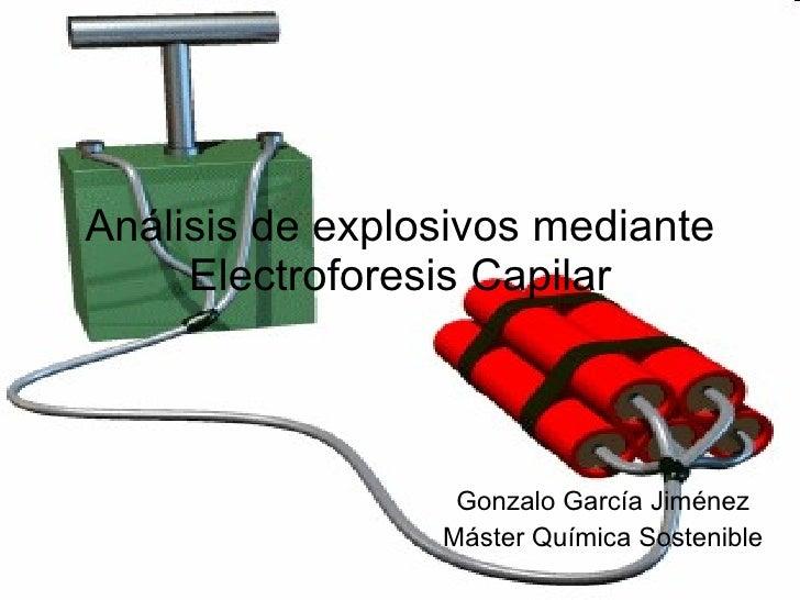 Análisis de explosivos mediante Electroforesis Capilar Gonzalo García Jiménez Máster Química Sostenible