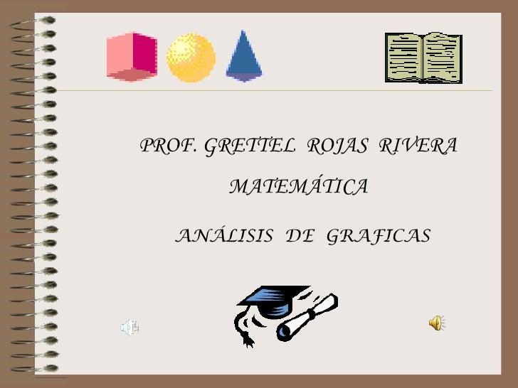PROF. GRETTEL ROJAS RIVERA       MATEMÁTICA  ANÁLISIS DE GRAFICAS