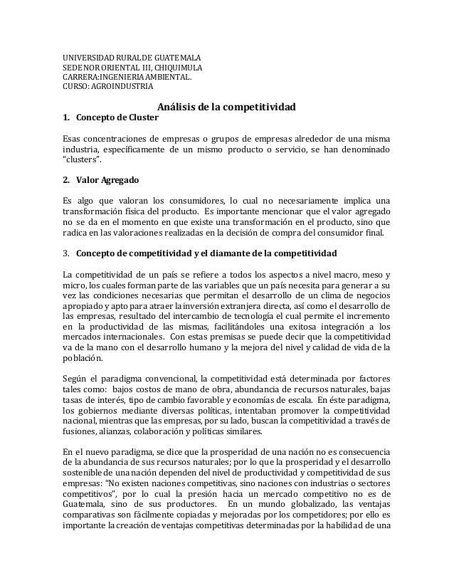 UNIVERSIDADRURALDE GUATEMALA SEDE NOR ORIENTAL III, CHIQUIMULA CARRERA:INGENIERIAAMBIENTAL. CURSO: AGROINDUSTRIA Análisis ...