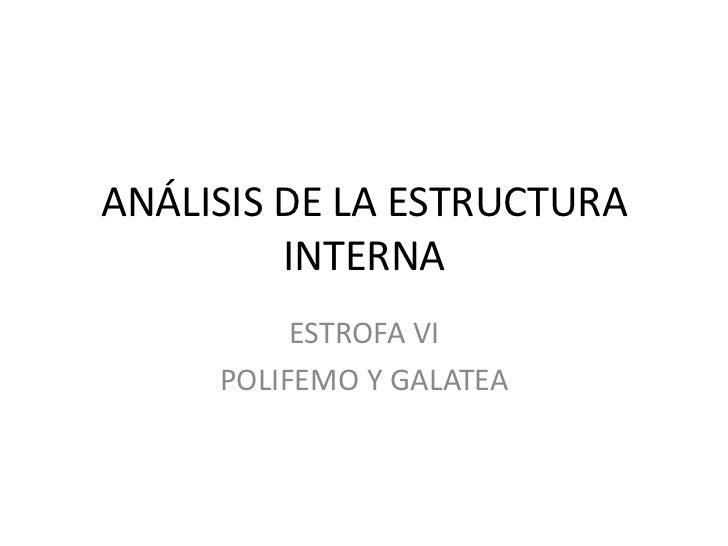 Análisis De La Estructura Interna Polifemo 1