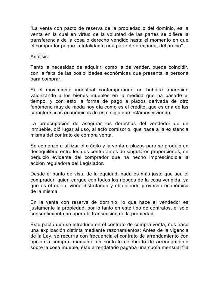 Análisis de la ley de ventas con reserva de dominio venezuela