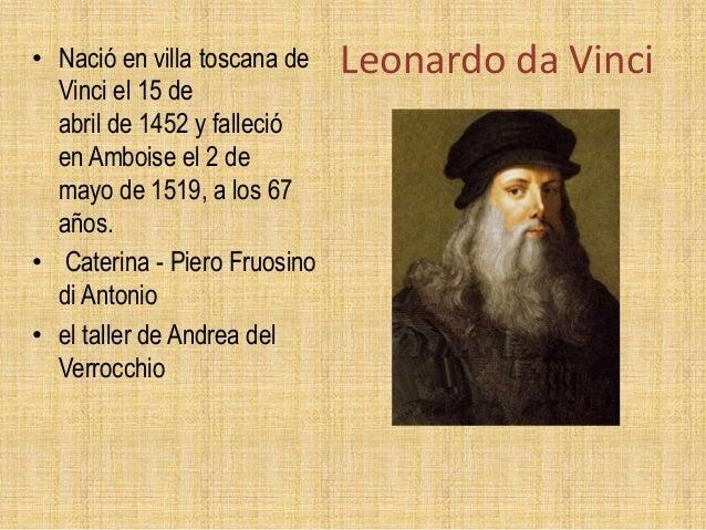 Resultado de imagen para 15 DE ABRIL LEONARDO DA VINCI