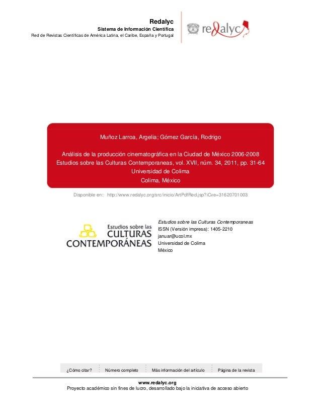 Disponible en: http://www.redalyc.org/src/inicio/ArtPdfRed.jsp?iCve=31620701003RedalycSistema de Información CientíficaRed...