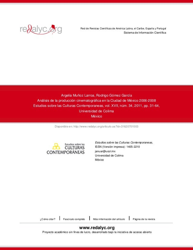 Disponible en: http://www.redalyc.org/articulo.oa?id=31620701003Red de Revistas Científicas de América Latina, el Caribe, ...