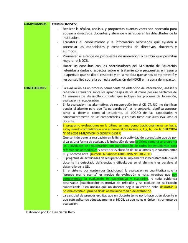 COMPROMISOS COMPROMISOS:- Realizar la réplica, análisis, y propuestas cuantas veces sea necesaria paraapoyar a directivos,...