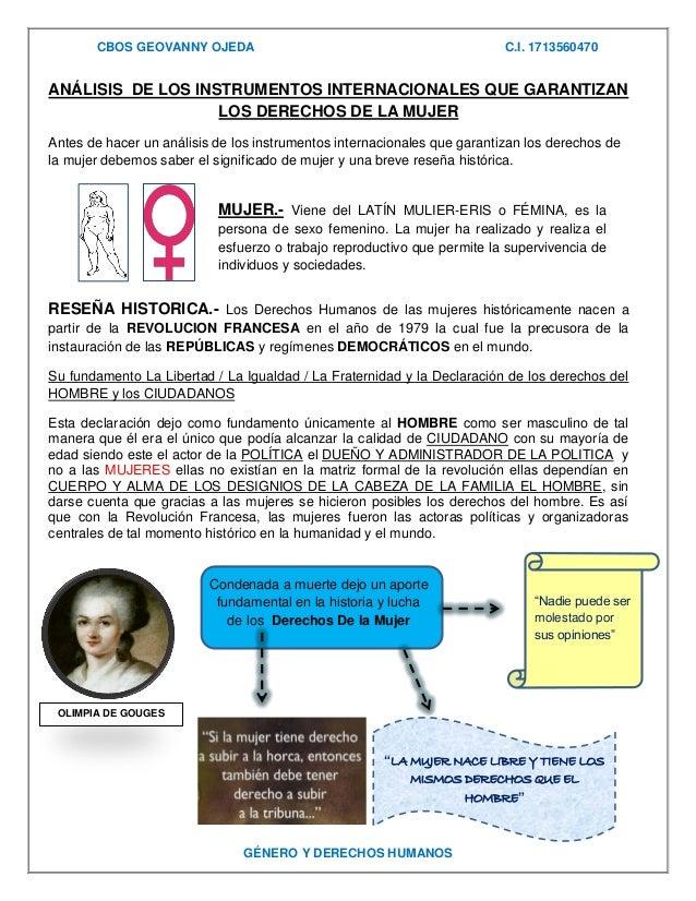 CBOS GEOVANNY OJEDA  C.I. 1713560470  ANÁLISIS DE LOS INSTRUMENTOS INTERNACIONALES QUE GARANTIZAN LOS DERECHOS DE LA MUJER...