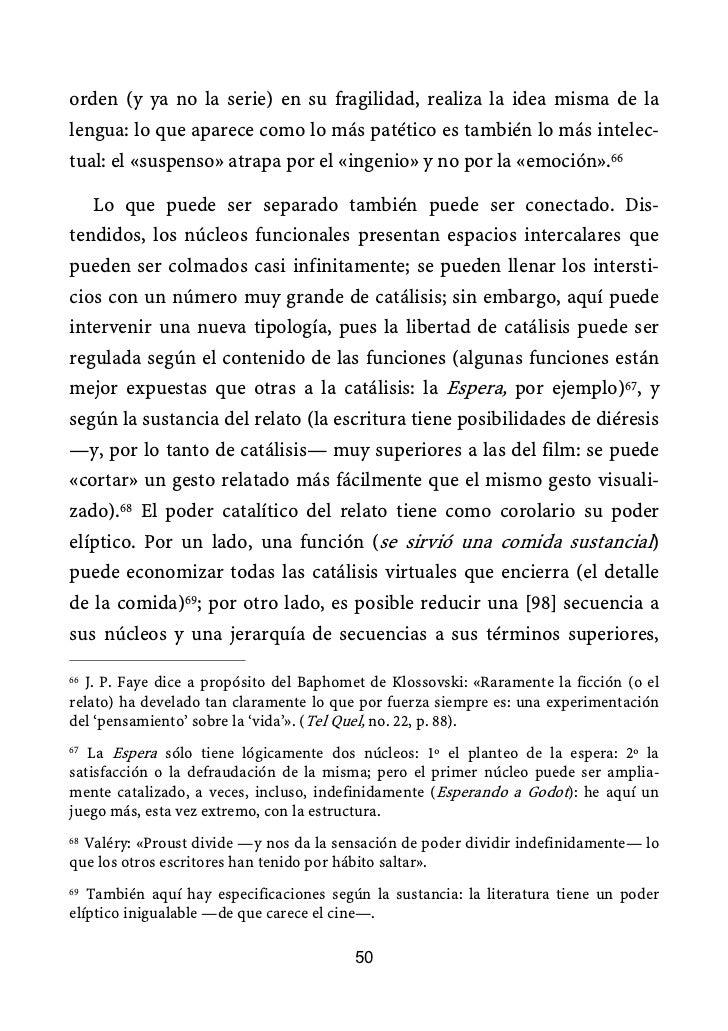 Análisis del relato roland barthes