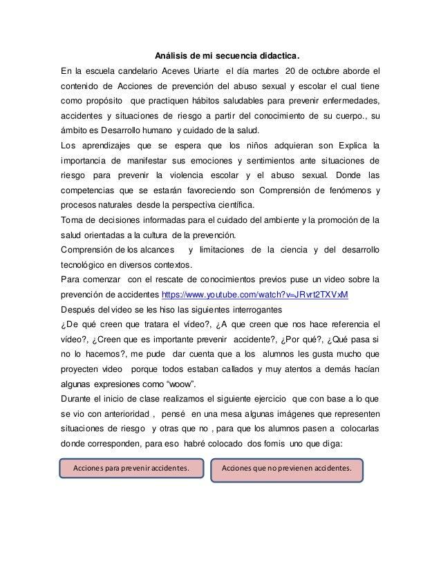Análisis de mi secuencia didactica. En la escuela candelario Aceves Uriarte el día martes 20 de octubre aborde el contenid...