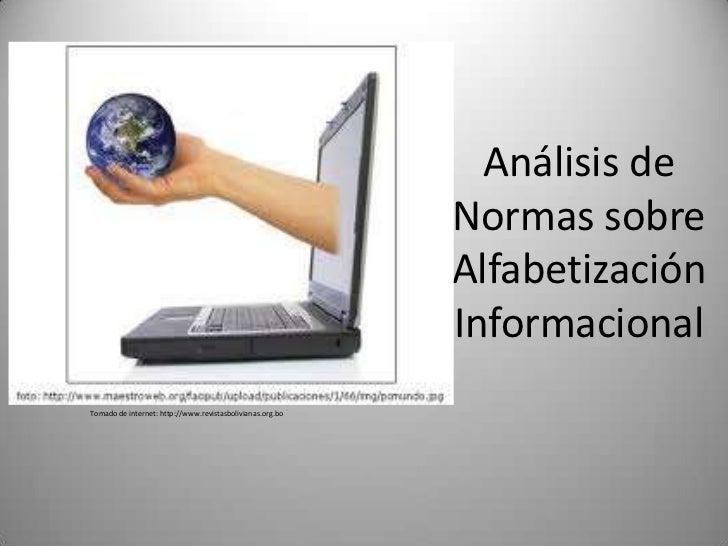 Análisis de                                                           Normas sobre                                        ...