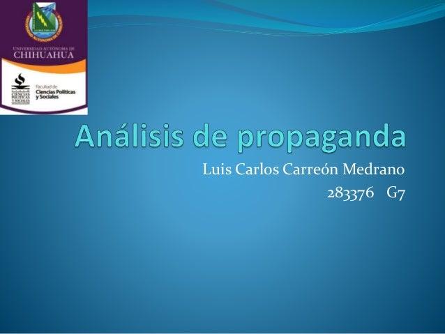 Luis Carlos Carreón Medrano  283376 G7