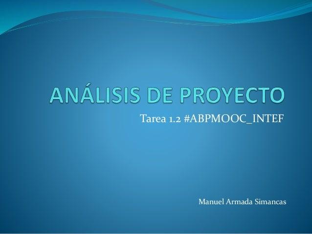 Tarea 1.2 #ABPMOOC_INTEF Manuel Armada Simancas