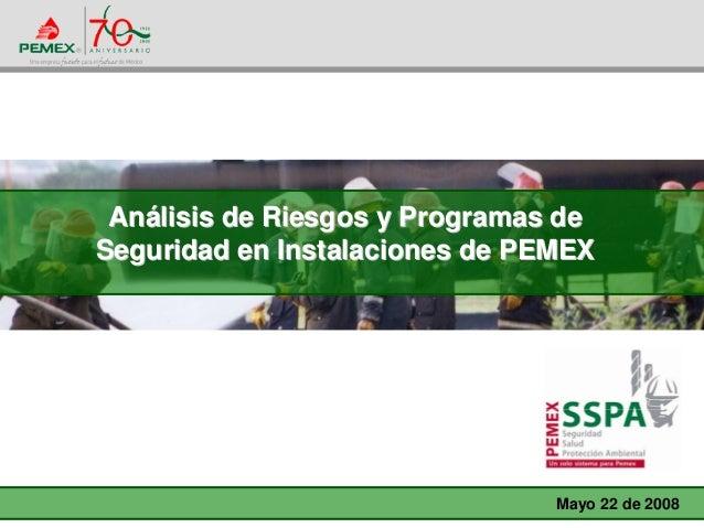 AnAnáálisis de Riesgos y Programas delisis de Riesgos y Programas de Seguridad en Instalaciones de PEMEXSeguridad en Insta...