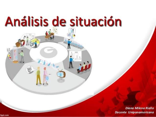 Análisis de situación Diana Milena Riaño Docente Unipanamericana