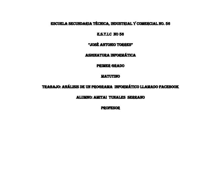 "Escuela Secundaria Técnica, Industrial y Comercial No. 56                         e.s.t.i.c no 56                    ""José..."
