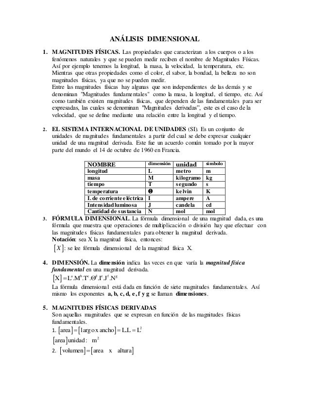 d3f4505a7 ANÁLISIS DIMENSIONAL 1. MAGNITUDES FÍSICAS. Las propiedades que  caracterizan a los cuerpos o a los ...