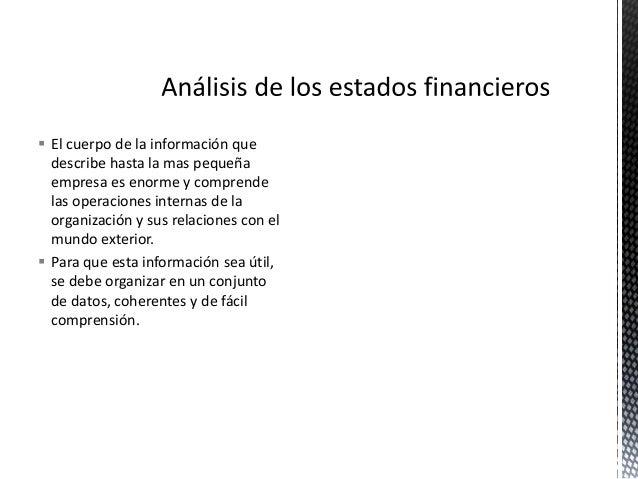 An U00e1lisis E Interpretaci U00f3n De Los Estados Financieros Resumen Ejecutiv U2026