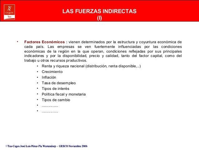 LAS FUERZAS INDIRECTAS  ©Tea-Cegos José Luis Pérez-Pla Westendorp -- GGEESSCCOO NNoovviieemmbbrree 22000066  (I)  • Factor...
