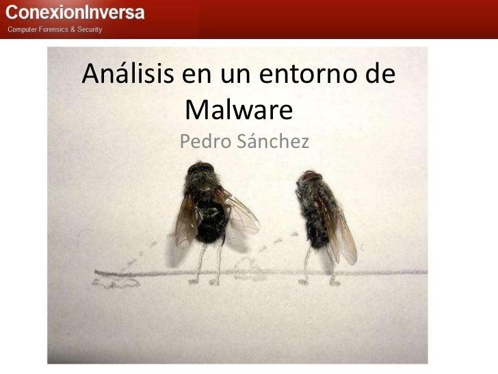 Análisis en un entorno de Malware<br />Pedro Sánchez<br />