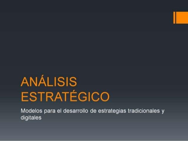 Modelos de Análisis Estratégico