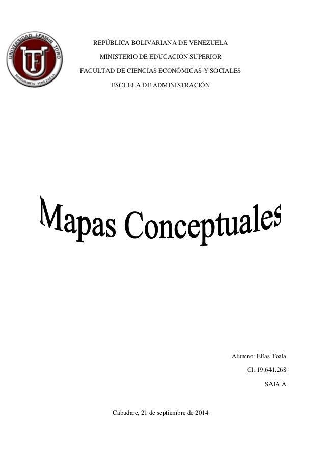 REPÚBLICA BOLIVARIANA DE VENEZUELA  MINISTERIO DE EDUCACIÓN SUPERIOR  FACULTAD DE CIENCIAS ECONÓMICAS Y SOCIALES  ESCUELA ...