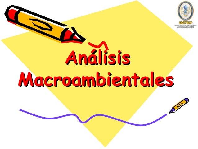 Análisis Macroambientales