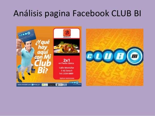Análisis pagina Facebook CLUB BI