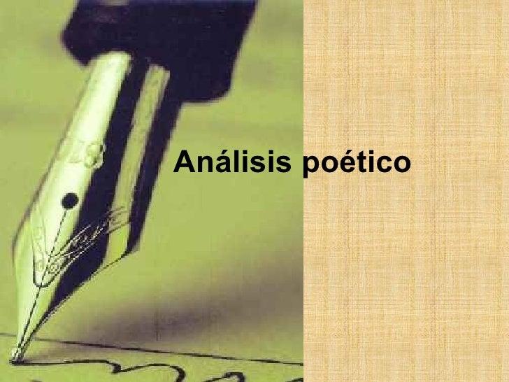 Análisis poético