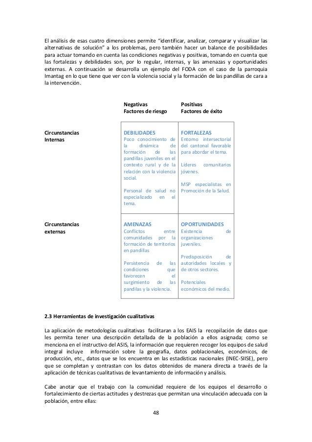"""El análisis de esas cuatro dimensiones permite """"identificar, analizar, comparar y visualizar las alternativas de solución""""..."""