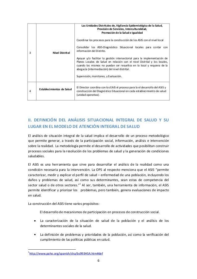 Las Unidades Distritales de, Vigilancia Epidemiológica de la Salud, Provisión de Servicios, Interculturalidad, Promoción d...