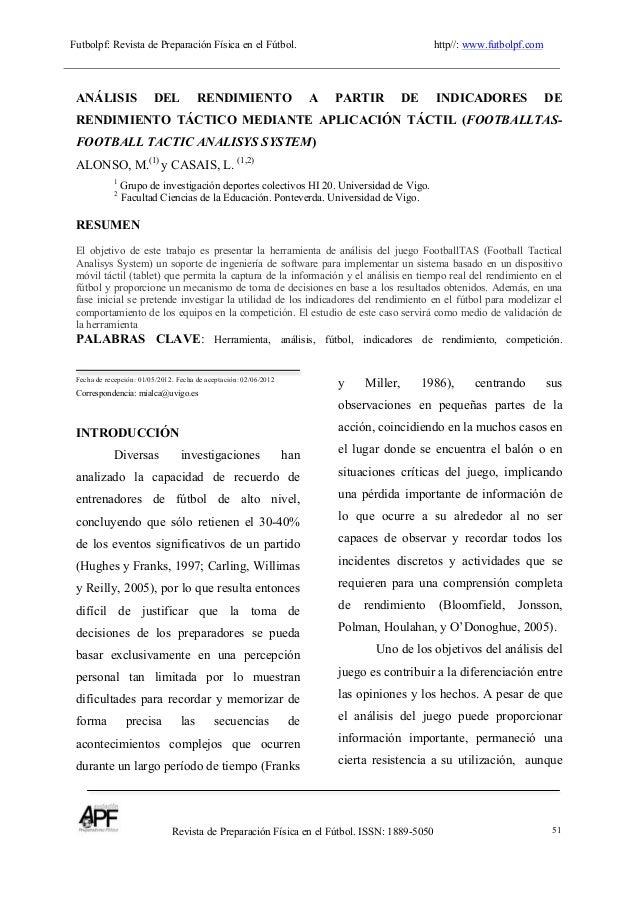 Futbolpf: Revista de Preparación Física en el Fútbol. http//: www.futbolpf.com                       ...
