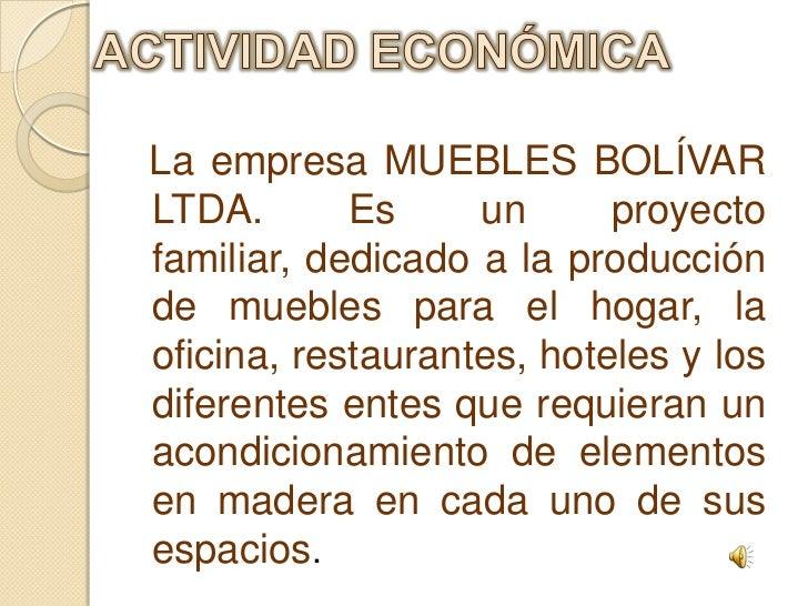 an lisis y descripci n de la empresa muebles bolivar