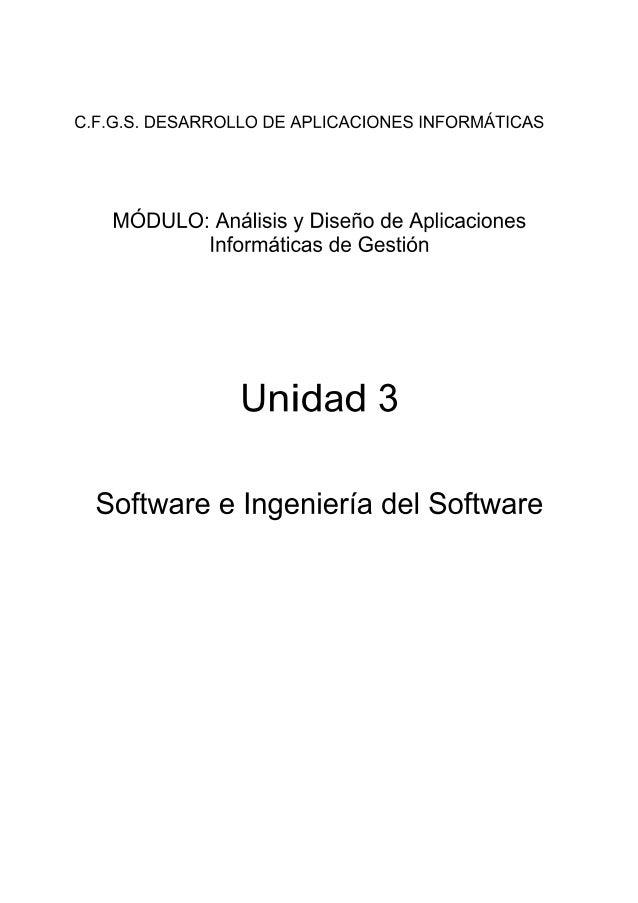 Análisis y diseño d. de aplicaciones informáticas de gestión unidad-3
