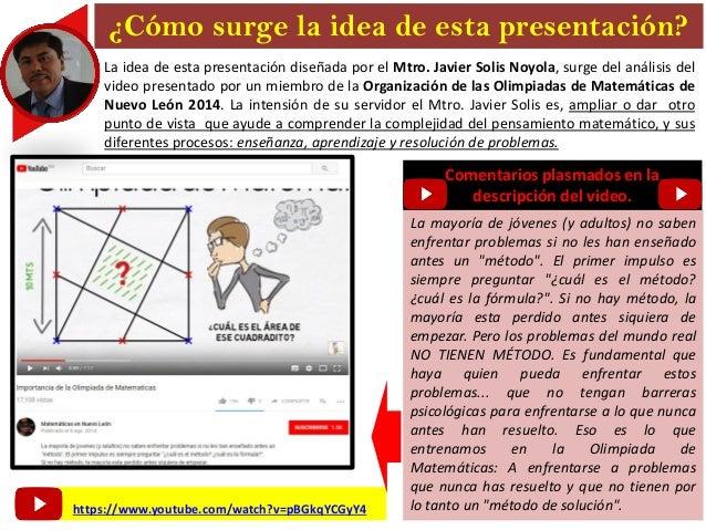 Análisis y propuesta didáctica para desarrollar el Pensamiento Matemático. Presentación desarrollada por el MTRO. JAVIER SOLIS NOYOLA Slide 2