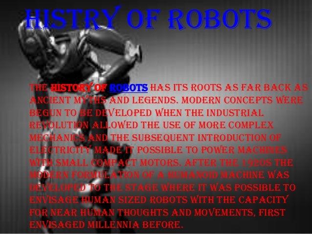 ROBOTICS AND ITS APPLICATIONS Slide 3