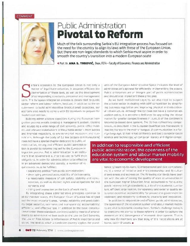 Prof. dr Ana Trbović, Cord magazine, februar 2014.