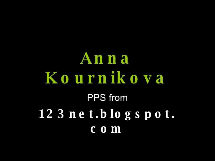 Anna Kournikova PPS from 123net.blogspot.com