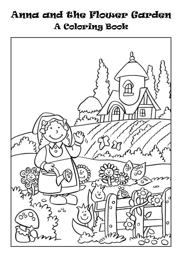 Anna and the Flower Garden A Coloring Book