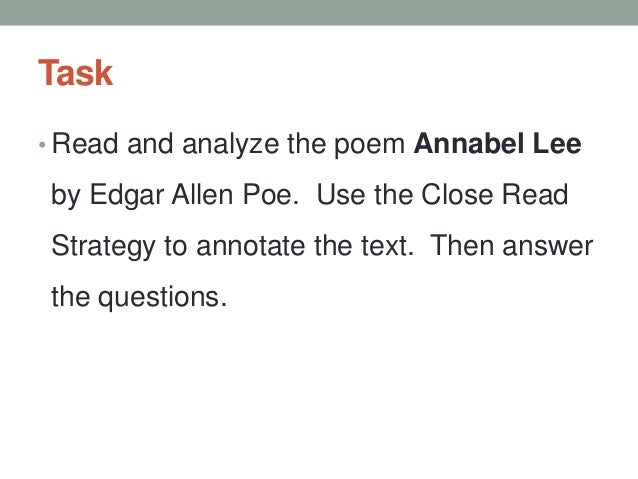 annabel lee poem analysis
