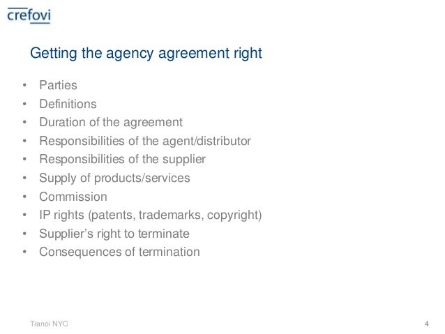 3 Getting the agreement right Tranoi NYC; 4.