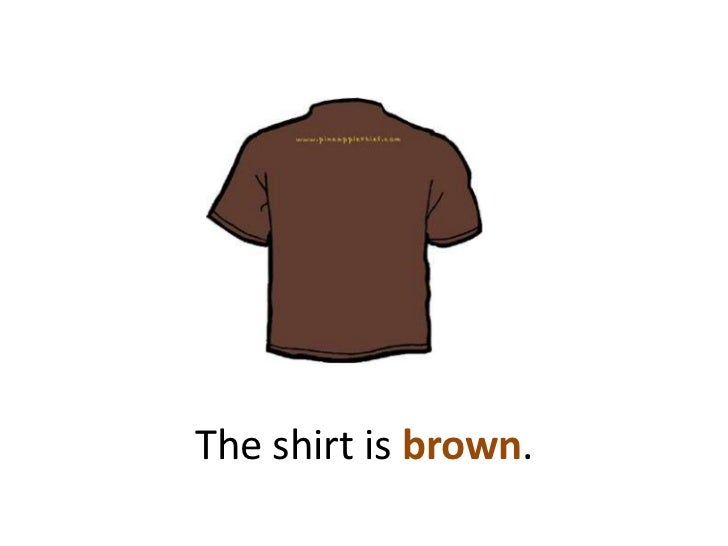 The shirt is brown.<br />