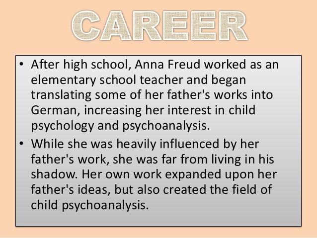 an introduction to the life of anna freud Life and career sigmund freud with his daughter anna in 1913 vienna years anna freud was born in vienna,  an introduction to  anna freud: her life and.