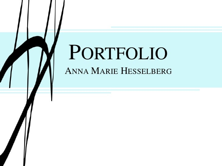 PortfolioAnna Marie Hesselberg<br />