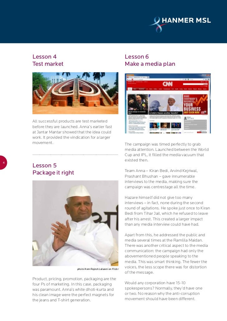 anna hazare movement against corruption essay Hazare, one of the icons of the india against corruption movement in 2011, which also included the likes of baba ramdev and now delhi cm arvind kejriwal, had captured the public imagination that year.