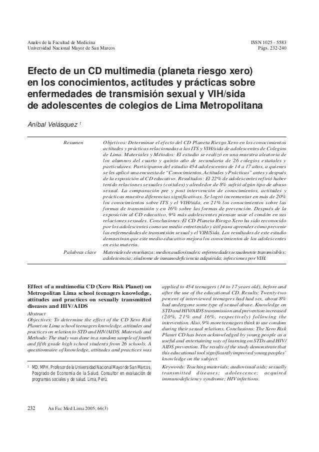 Aníbal Velásquez et al. 232 An Fac Med Lima 2005; 66(3) ISSN 1025 - 5583 Págs. 232-240 Anales de la Facultad de Medicina U...