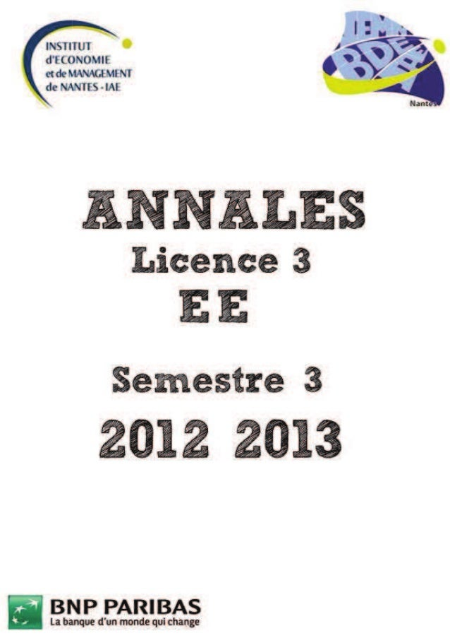 Annales Licence 3 EE